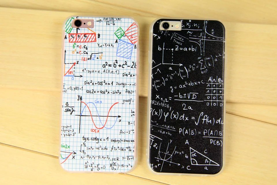 Fashion Mathematical formula Case For Coque iPhone 5 Case Carcasa TPU Back Cover Funda For Capinha Para iPhone 5s Case