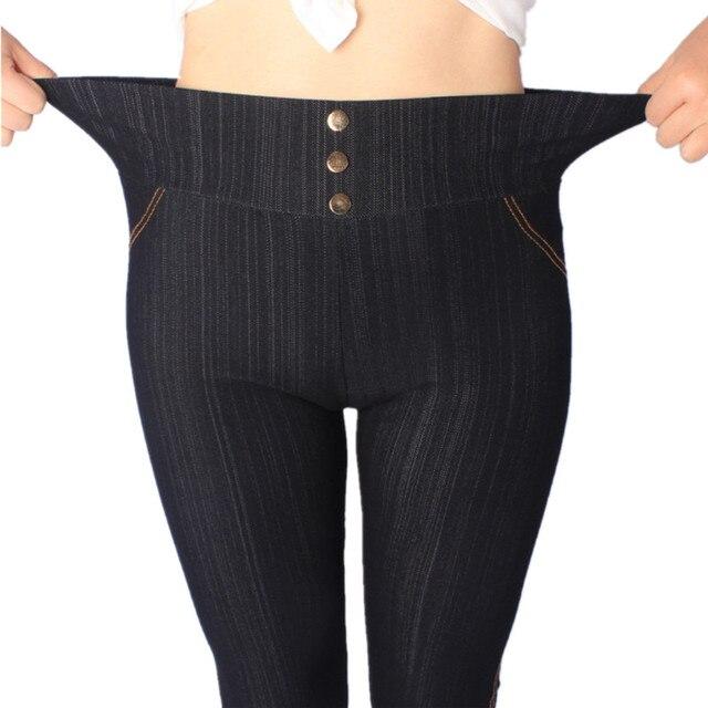 2017 Women Leggings XL,3XL,5XL High Waist Jeans Leggins With Buttons Jeggings  Plus - Aliexpress.com : Buy 2017 Women Leggings XL,3XL,5XL High Waist