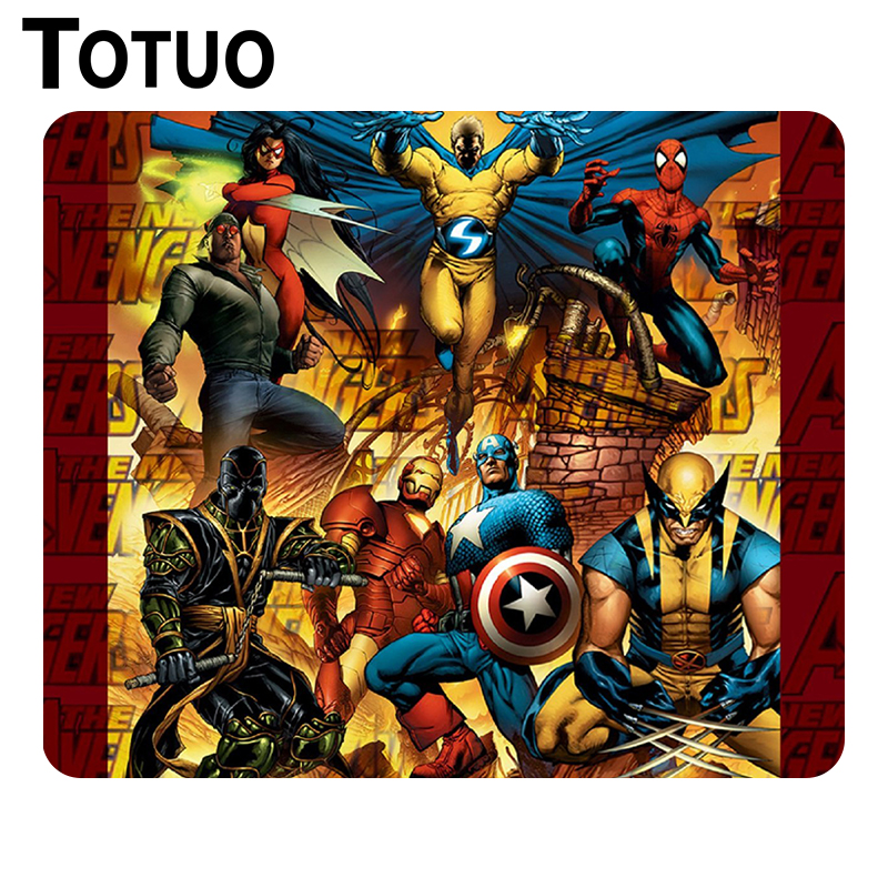 New Design marvel superhero game player Anime Gaming Mouse Mat Notebook Computer Rectangular Mouse Pad