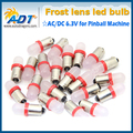 100PCS free shipping red color #44 #47 Ba9s Bayonet Base Bulb AC DC 6.3V pinball led bulbs