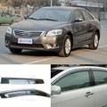 4 pcs Lâmina Lateral Do Windows Defletores Porta Viseira Protetor Para A Toyota Camry 2007-2011