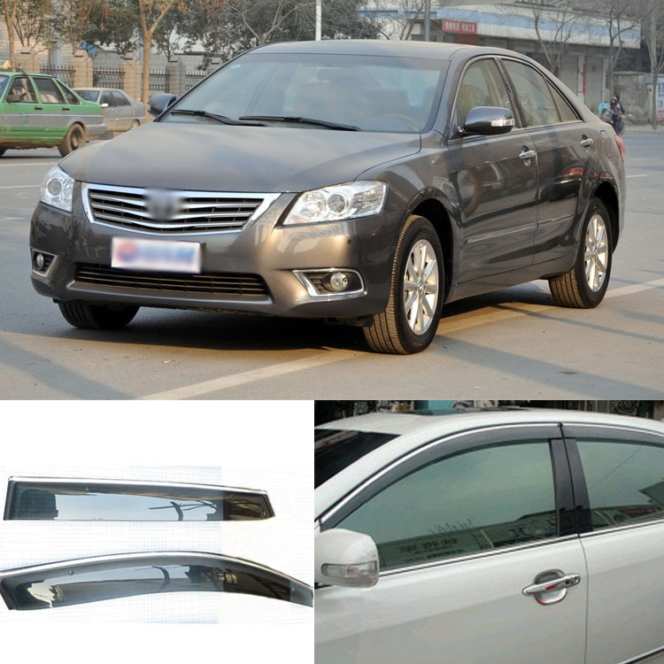 4pcs Blade Side Windows Deflectors Door Sun Visor Shield For Toyota Camry 2007-2011 4pcs blade side windows deflectors door sun visor shield for toyota verso ez 2011 2014