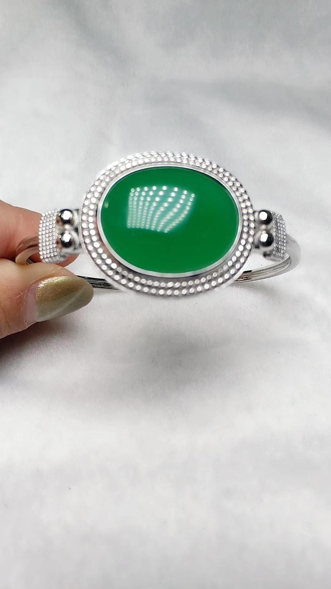 Koraba Fine Jewelry Sterling S925 Silver Bangle Jade Bracelet Free ShippingKoraba Fine Jewelry Sterling S925 Silver Bangle Jade Bracelet Free Shipping