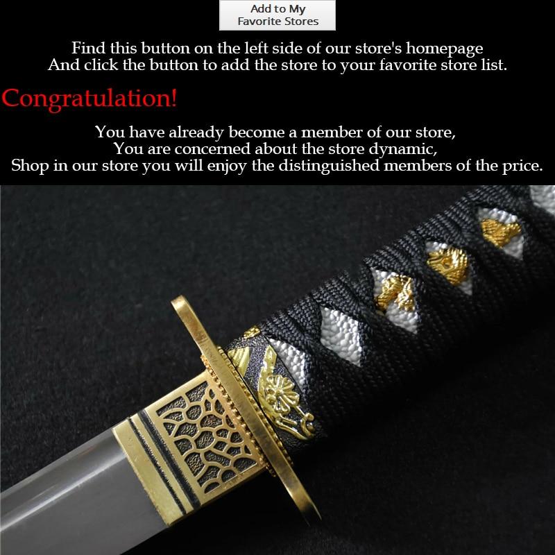 Real Japanese Katana Sword 1095 Full Handmade Japanese Katana Sword - Heminredning - Foto 4