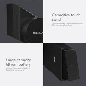Image 5 - Sherlock S2 Electric Lock Fingerprint+Password Smart Door Lock Add 1Pc Key For Office Glass Door Wireless APP Bluetooth Control