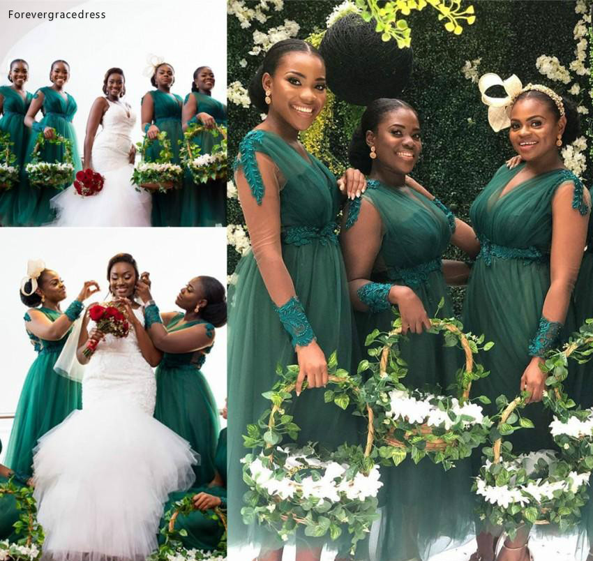 South African Bridesmaid Dresses 2019 A Line Summer Country Garden Wedding Party Guest Maid Of Honor Gowns Plus Size Custom Made
