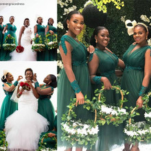 Gowns Bridesmaid-Dresses Honor Wedding-Party Guest Plus-Size Garden Summer of A-Line
