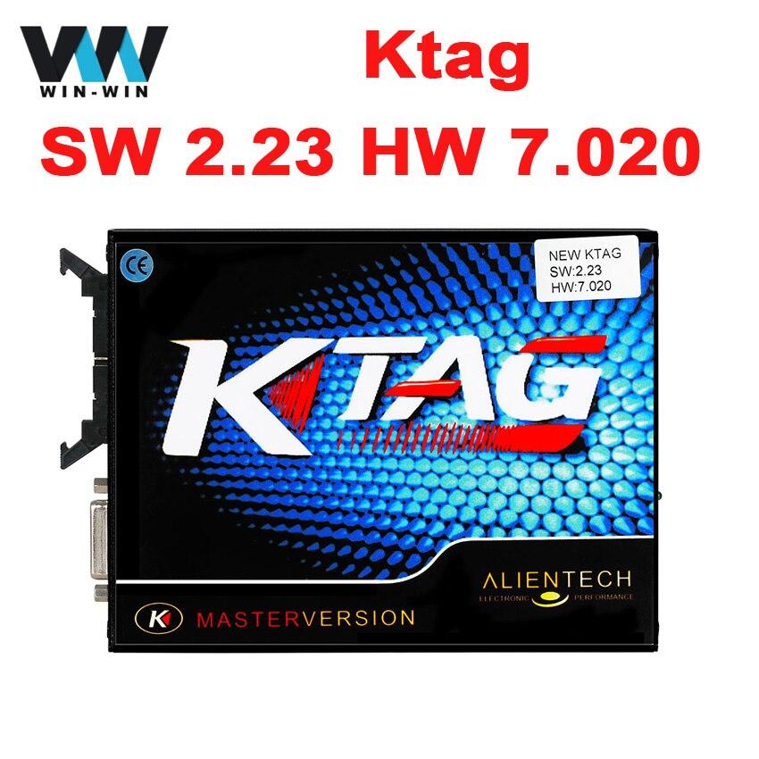 Prix pour Date Ktag K-tag HW 7.020 SW 2.23 ECU Outil de Programmation aucun Jeton Limite En Ligne Maître Version Ktag avec BDM Fonction Scanner