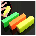 3Pcs/lot New Manicure Tools Nail File Buffering Wholesale All Fluorescent Color Sponge Postage Stamp Mixed Color for Nails Art