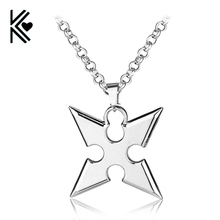 Hot Game Kingdom Hearts Metal Necklace Roxas dart Pendant Cosplay Accessories Jewelry Gift can Drop Shipping
