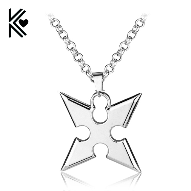 Hot game kingdom hearts metal necklace roxas dart pendant cosplay hot game kingdom hearts metal necklace roxas dart pendant cosplay accessories jewelry gift can drop shipping aloadofball Images
