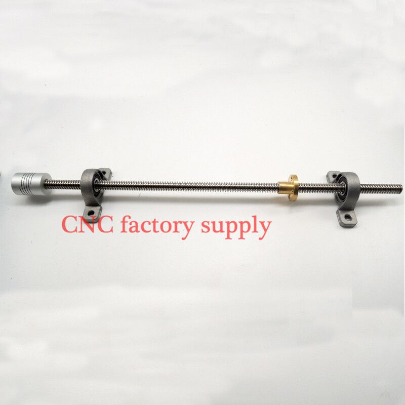 3D Printer T8-500 Stainless Steel Lead Screw Set With Shaft Coupling Dia 8MM  Pitch 2mm Lead 8mm Length 500mm  Free Shipping flsun 3d printer big pulley kossel 3d printer with one roll filament sd card fast shipping