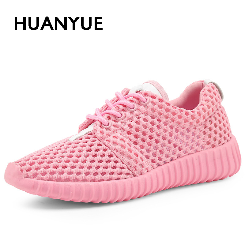 Hot Sale Summer Women Shoes Flat Breathable Mesh Women Casual Shoes 2018 Fashion Sandalias Mujer Light White Women Sneakers lanyuxuan 2017 hot sale sandalias mujer
