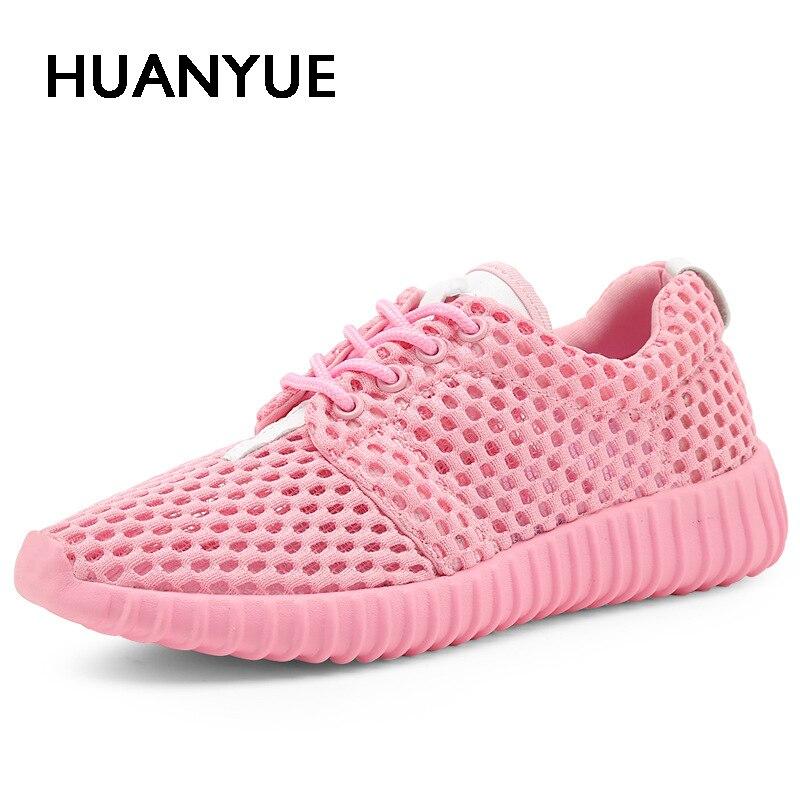 Hot Sale Summer Women Shoes Flat Breathable Mesh Women Casual Shoes 2018 Fashion Sandalias Mujer Light White Women Sneakers