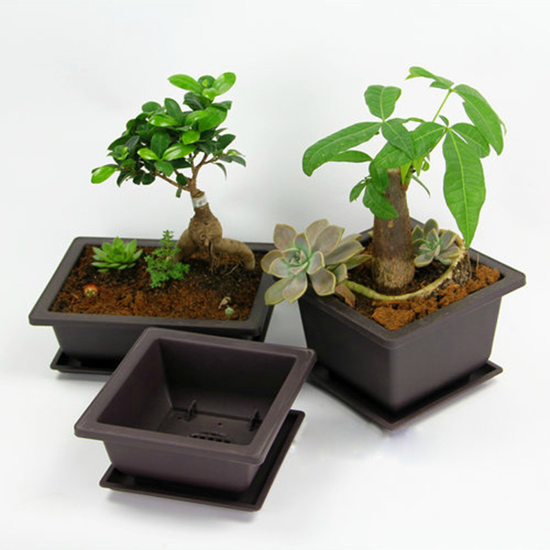 1PCS Plastic Succulent Flower Pot Garden Supplies Bonsai Nursery Pots Retro Plant Pot Balcony Decorations Maceteros Decorativos