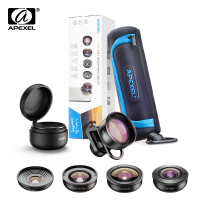 APEXEL HD 5 in 1 Camera Phone Lens 4K Wide Macro Lens Portrait Super Fisheye Lens CPL Filter for iPhone Samsung all cellphone
