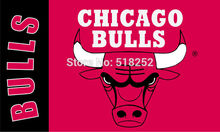 Chicago bulls Flag 3×5 FT 150X90CM Banner copper grommets Polyester NBA flag 166,  free shipping