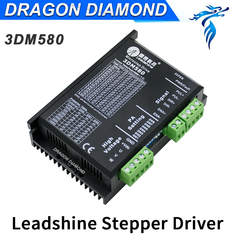 Stepper Motor Driver Leadshine 3-Phase CNC Stepper Motor Driver 3DM580 Output Current 1.0-8.0A High Performance 7.2A leadshine m542 2 phase stepper drive with 20 50vdc voltage and 1 0 4 2a current pure sinusoidal current control