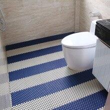 Creative DIY Bathroom PVC Anti-Slip Mat 20x20cm Solid Handmade Stitching Hollow Waterproof Bath Mats Home Hotel Room Decor