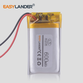 702035 3.7V 500mAh Rechargeable li Polymer Battery For mp3 mp4 GPS DVR texet tools Watch Children's phone speaker 072035 image