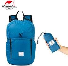 Naturehike 30D Nylon Waterproof Backpack 25L Ultralight Shoulder Straps Folding Rucksack Outdoor Camping Sports Bags