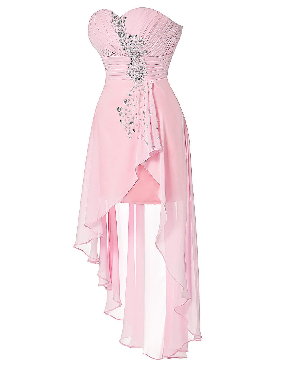 HTB1n8ZcKVXXXXbsXXXXq6xXFXXXNHigh Low Short Front Long Back Strapless Dress