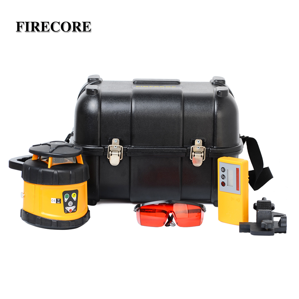 FIRECORE FRL 350HR High Accurate Red Beam Self leveling Rotary Laser Level With Receiver Detector