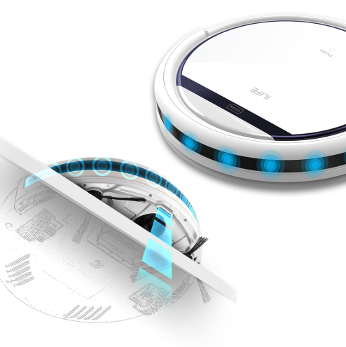 ILIFE V3s Pro Robot Vacuum Cleaner Home Household Professional Sweeping Machine for Pet hair Anti Collision Automatic Recharge - 4