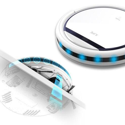Ilife v3s pro robô aspirador de pó doméstico profissional máquina arrebatadora para o cabelo do animal estimação anti colisão recarga automática - 4