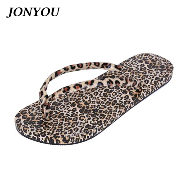 f9fdf1f81 Designer Flip Flops Leopard Beach Slippers Women's Shoes Sandals Footwear  Ladies Sandals for Home Use Women Slides Summer Shoes