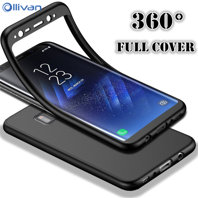 256d6177e3 360 Degree Soft Silicone Case For Samsung Galaxy A7 A5 A3 J5 J7 2017 S7 S8  S9 Plus Cover For Samsung Note 8 9 A8 2018 Case Coque-in Fitted Cases from  ...