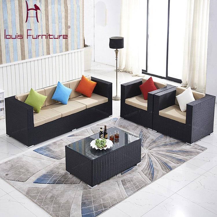 Home Living Room Villa Leisure Cushion Rattan Chair Custom Manufacturers Selling European Outdoor Chairs Combination