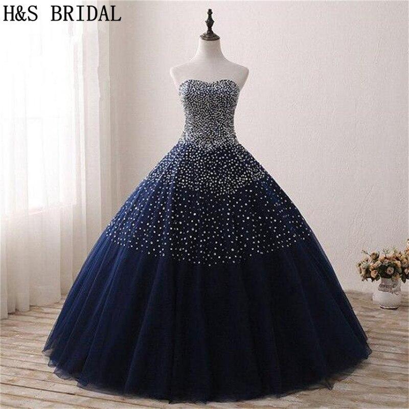 Aufrichtig H & S Braut Ballkleid Quinceanera Kleider 2019 Party Kleider Lange Robe De Soiree Pailletten Prom Kleider Auf Lager Einfach Zu Verwenden