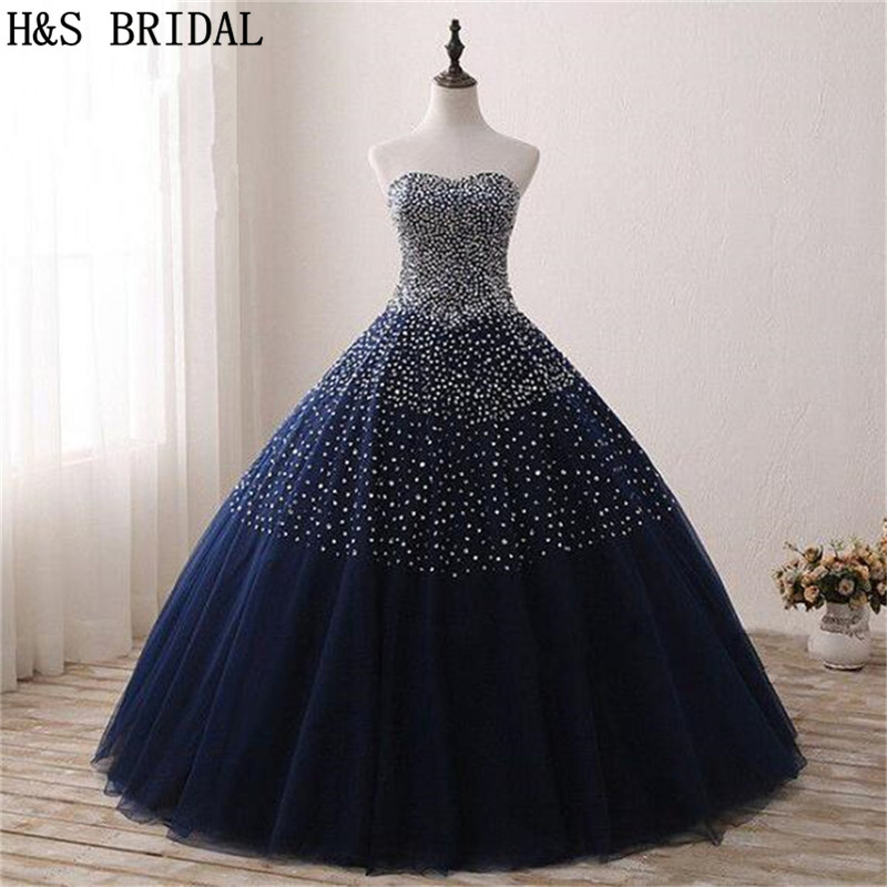H&S BRIDAL Ball Gown Quinceanera Dresses 2019 Party Gowns Long robe de soiree sequins Prom Dresses In Stock