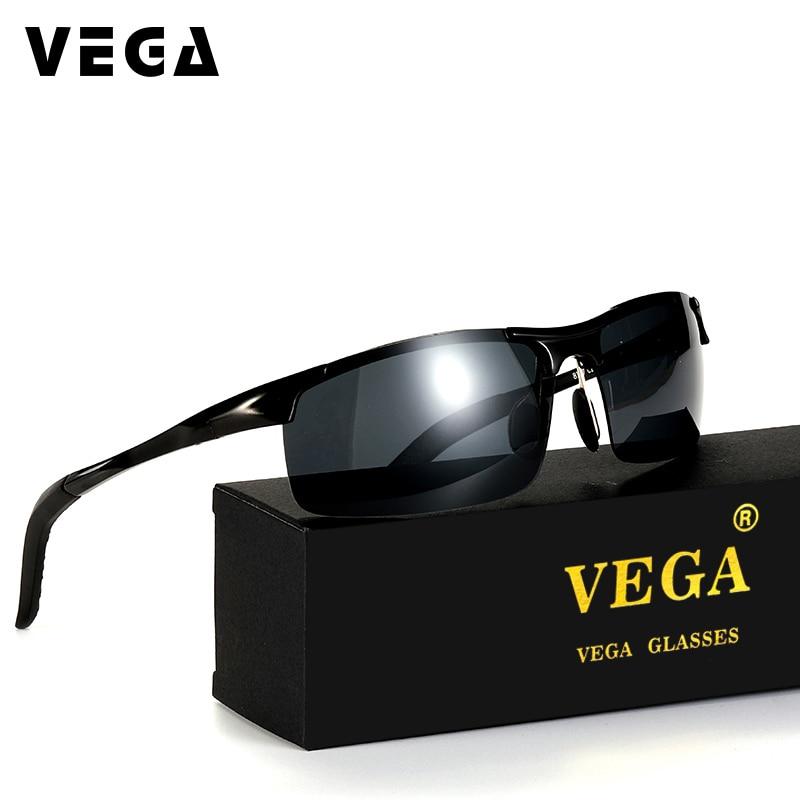 Syze dielli të polarizuara të magnezit VEGA Alumini për shofer policie Biker për gotat e taktikës të ftohta për burrat gra 8177