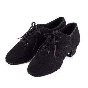 Image 1 - Oryginalne buty męskie BD łacińskie buty do tańca dla dorosłych dwupunktowe podeszwy buty dla nauczycieli miękkie buty do tańca podstawowego męskie 417 Oxford Cloth Heel 4.5