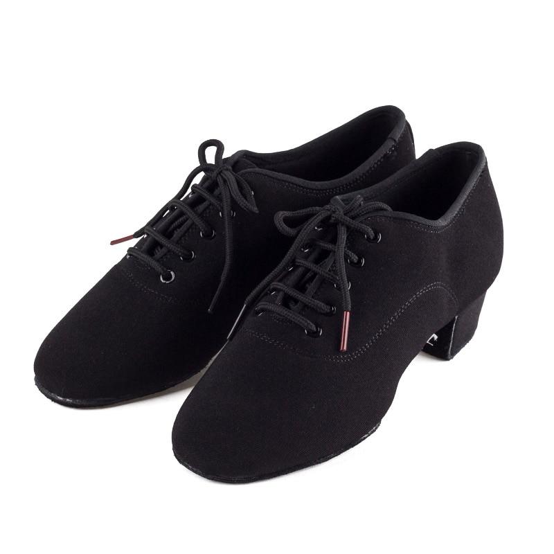 Véritable BD hommes chaussures chaussures de danse latine adulte deux points semelles chaussures de professeur base souple chaussures de danse mâle 417 Oxford tissu talon 4.5