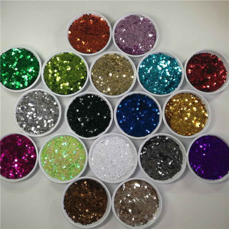 3 4 5 6 mm Sequin Flat Round PVC Loose Sequins Crafts Paillette Sewing Clothes Decoration DIY Accessory Lentejuelas Para Coser in Sequins from Home Garden
