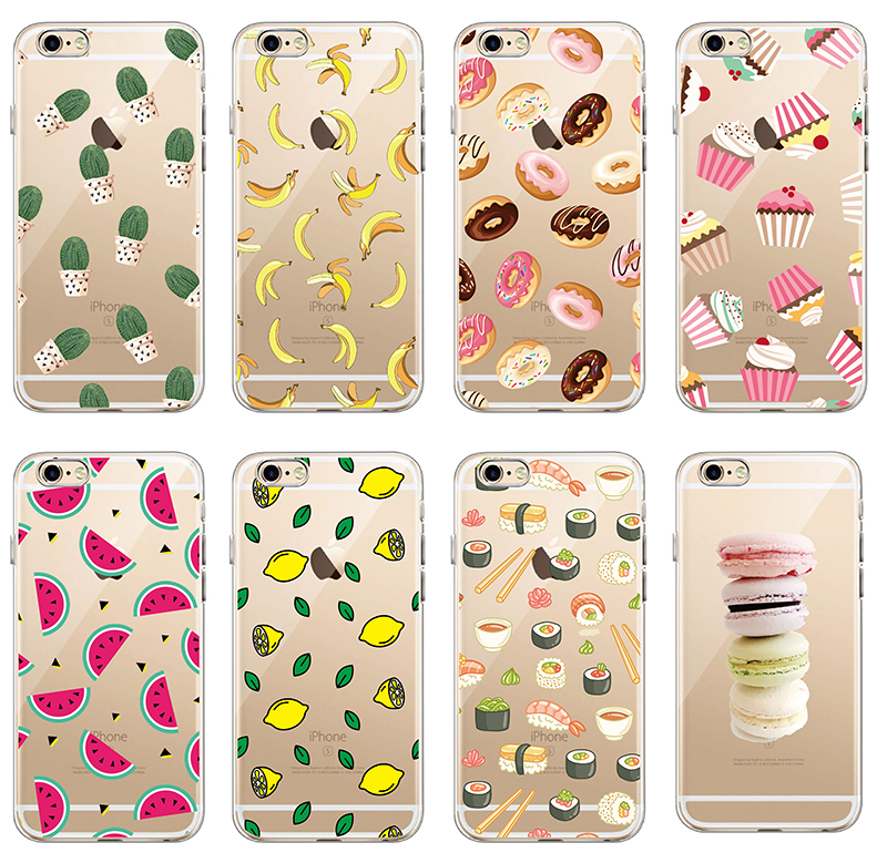 Galleria fotografica Food Fruit Coffee Pineapple Lemon Banana Cactus Strawberry Sushi Phone Case fundas For Samsung Galaxy J5 A3 A5 S6 S7 edge S8 S8P