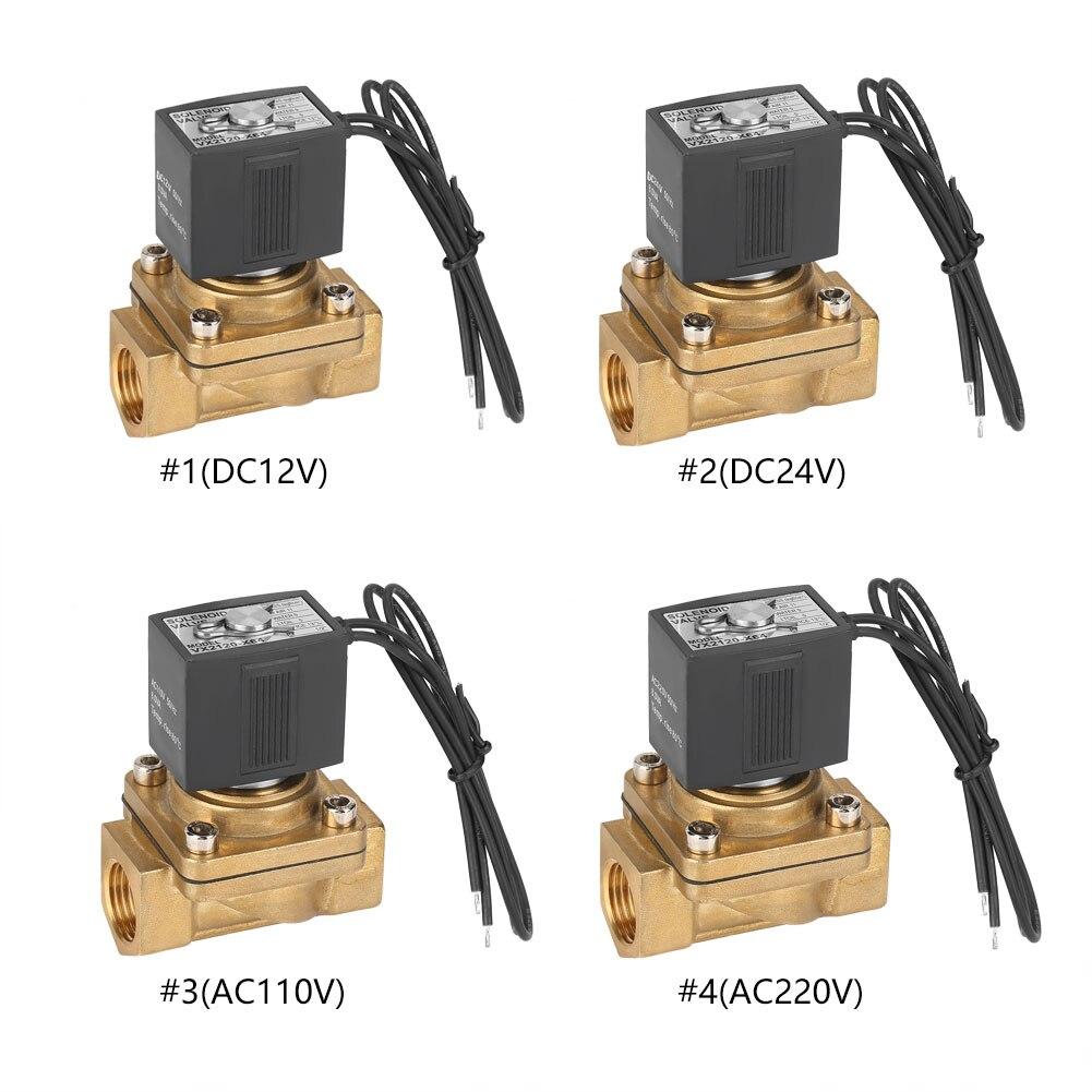 Heimwerker Magnetventil G1/2 2 Weg Direkt Wirkenden Normalerweise Magnetventil Elektro Magnetische Ventil 0-1.0mpa