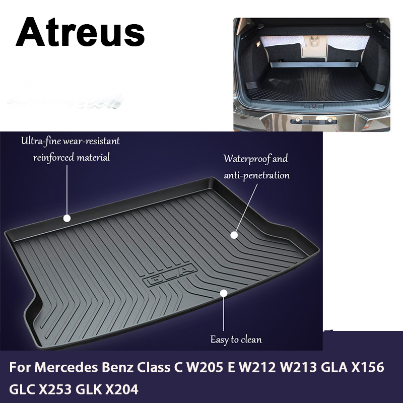 Atreus Car Trunk Cargo Floor Liner Tray Mat Cover Blanket For Mercedes Benz Class C W205 E W212 W213 GLA X156 GLC X253 GLK X204 стоимость