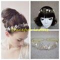 Pelo de la boda accesorios imagen Real 2016 accesorios nupciales rebordear cristalino de moda para mujer Hairwear de nueva barato atractivo