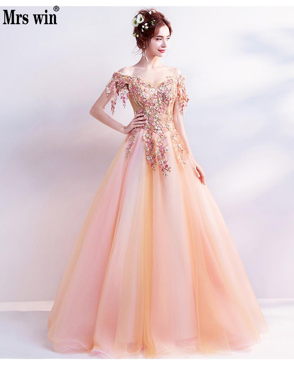 Tienda Online 2018 vestidos largos elegantes de manga larga con ...