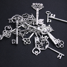 6pcs 20-45 pattern Antique Silver Metal Mixed Brass Zinc Alloy DIY Key Shaped Charm Pendant Making D0954 Charms doreenbeads zinc metal alloy toggle clasps rhombus antique silver pattern pattern 6 7cm x2 8cm 2 5 8 x1 1 8 2 sets new