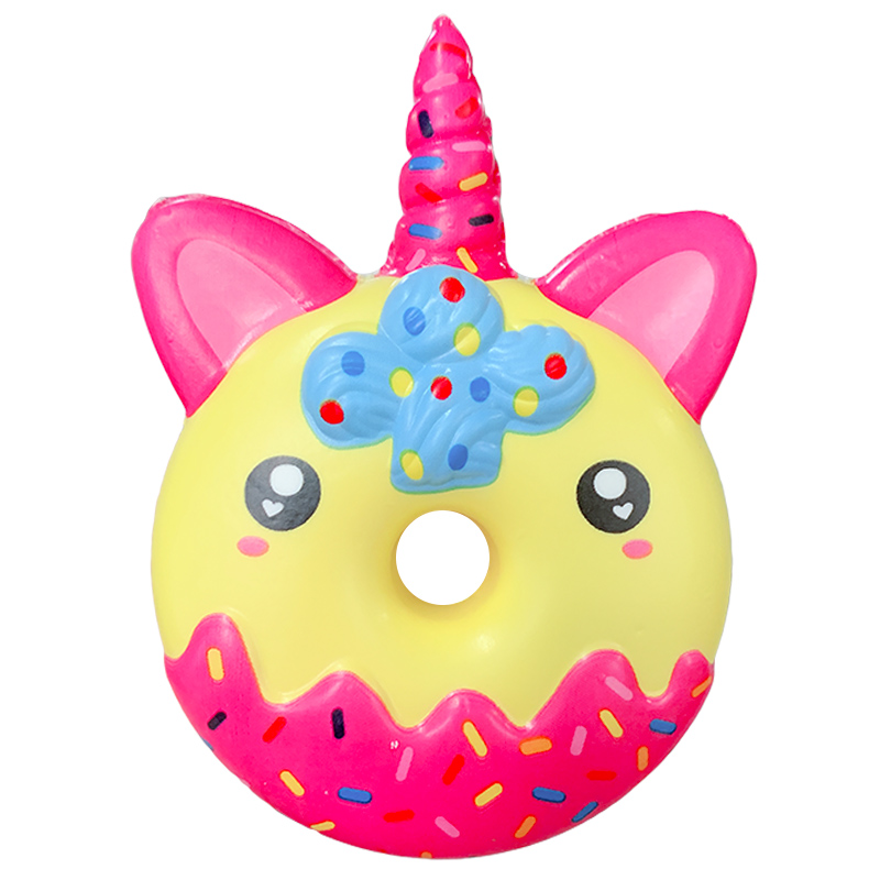 Kawaii Chocolate Unicorn Donut Squishy Slow Rising Creative Scented Soft Squeeze Toys Stress Relief Fun For Kid Xmas Gift Toy