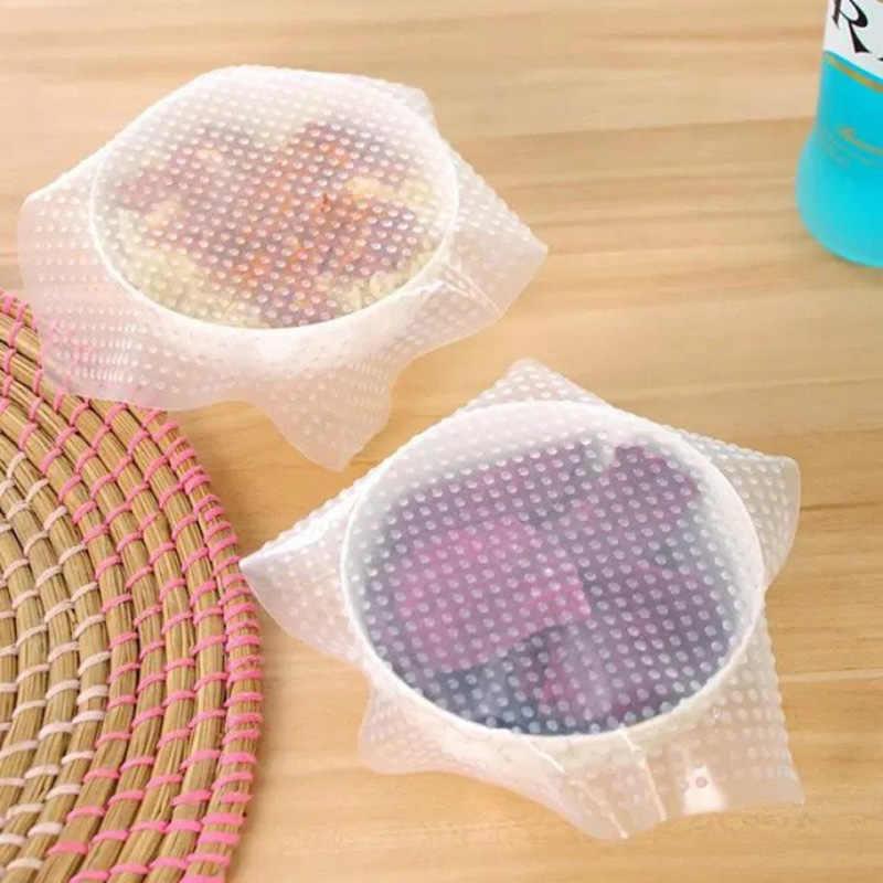 1 Stuk Food Grade Houden Voedsel Hygiënische Wrap Herbruikbare Hoge Stretch Silicone Voedsel Wraps Seal Vacuum Cover Stretch Deksel