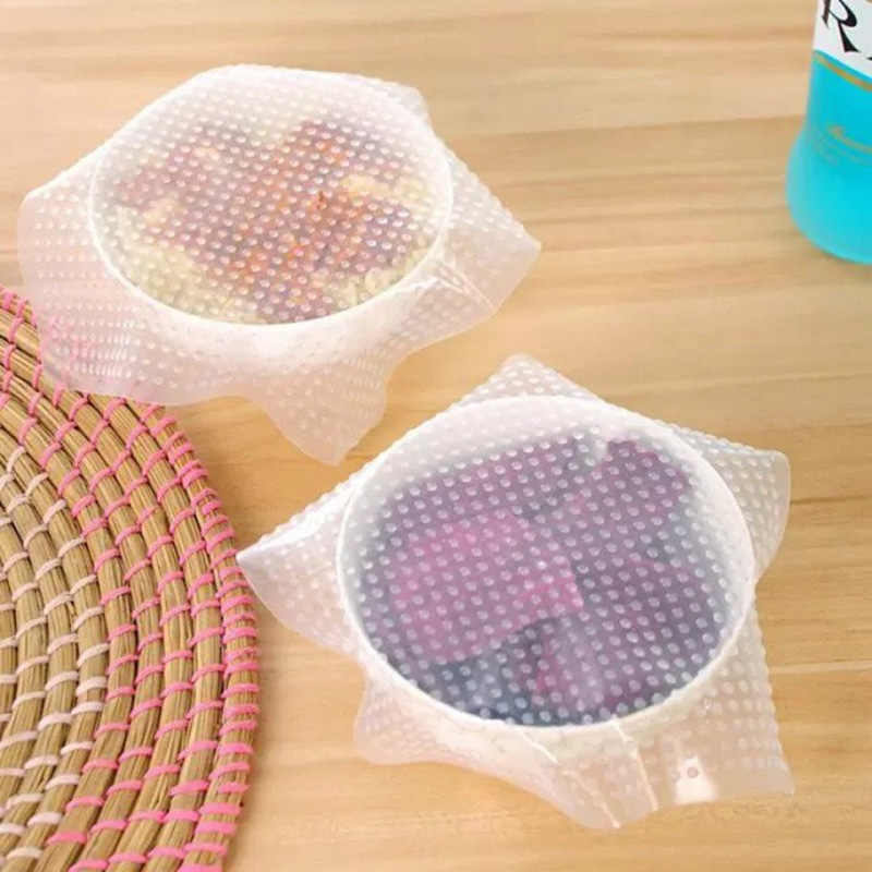 1 piece food grade Keeping Food Fresh Wrap Reusable high stretch Silicone Food Wraps Seal Vacuum Cover Stretch Lid