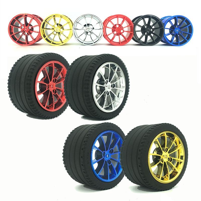 moc Race Car Model Plating Wheel Hub Building Block Accessories Technology Series Chrome Rims compatible 42056 20001 3368