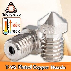 Image 3 - Комплект насадок trianglelab V6 из меди с покрытием + тепловой блок + терморазрыв из титанового сплава TC4 для PETG из углеродного волокна PEI PEEK ABS NYLON