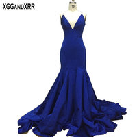 Новое поступление сапфир Русалка длинное вечернее платье 2018 Vestido De Festa Zuhair Murad синий Вечерние платья вечернее M590